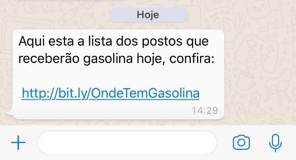 mais um golpe no whatsapp percorre a rede com postos de gasolina