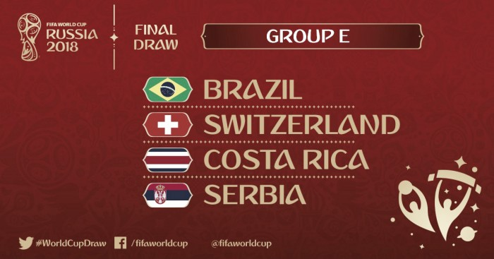 Dias e Horários Jogos do Brasil Copa 2018 Rússia