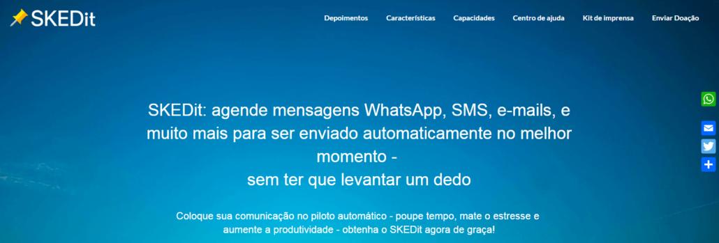 agendar o envio de mesagens pelo whatsapp