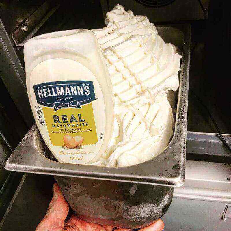 sorveteria lanca novo sabor de sorvete o sabor maionese